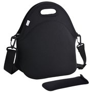 6bda93afa1 Coofit Neoprene Lunch Bag with Strap   Tableware Pocket Waterproof  Insulated Lunch Bag Tote for Kids