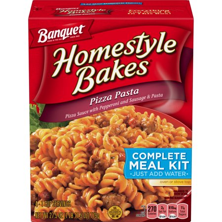 Banquet Homestyle Bakes Pizza Pasta Meal Kit, 27.5 Ounce](Fiesta Banquet)