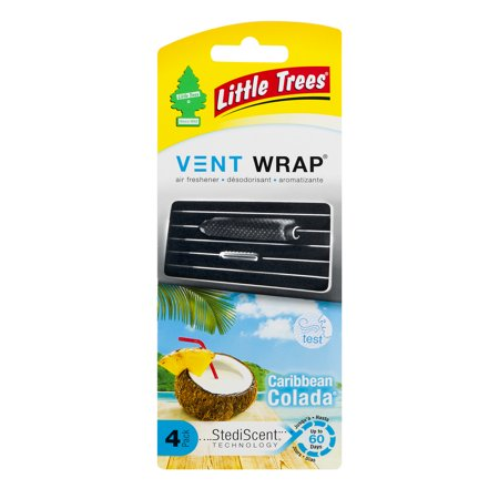Caribbean Air (LITTLE TREES Vent Wrap air freshener Caribbean Colada)