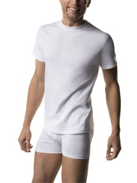 Mens ComfortSoft White Crew Neck T-Shirt 3-Pack
