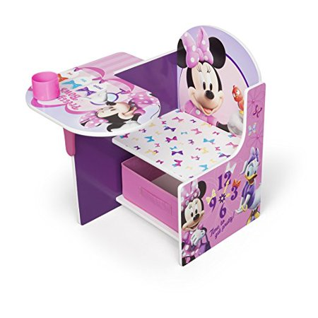 Disney Minnie Mouse Chair Desk with Storage Bin by Delta Children ()