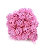 Foam Flowers -144pcs Colourfast Foam Artificial Rose Flowers Wedding Bride Bouquet Party Decor Valentine's Day Decoration(Mini Size)