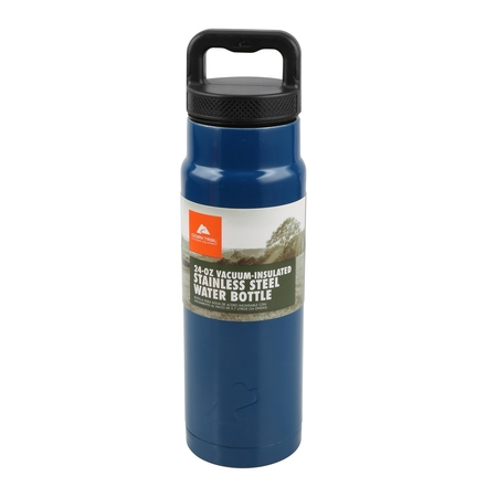 Folding Thermos Stainless Steel Bottle (Ozark Trail 24oz Vacuum Insulated Stainless Steel Water Bottle )