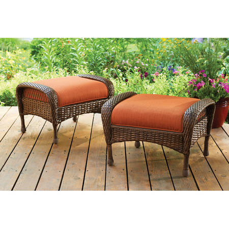 Garden Aluminum Ottoman (Better Homes and Gardens Azalea Ridge Outdoor Ottomans, Set of)