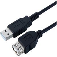 Onn Usb Extension Cable, Black, 6' Long
