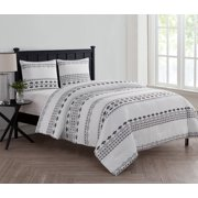 Vcny Home Black White Aztec Printed 2 3 Piece Bedding Comforter Set With Shams