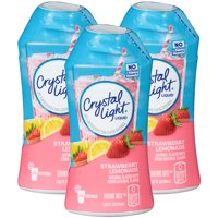 (6 Pack) Crystal Light Liquid Strawberry Lemonade Drink Mix, 1.62 fl oz Bottle