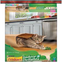 Friskies Indoor Delights Chicken, Beef, Salmon, Cheese, Garden Greens Flavors Adult Dry Cat Food (Various Sizes)