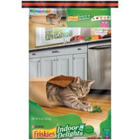 Friskies Indoor Delights Chicken, Beef, Salmon, Cheese, Garden Greens Adult Dry Cat Food, 16 lb