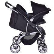 Gymax 3 in 1 Foldable Steel Travel System Baby Stroller PRAM