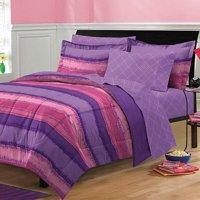 My Room Tie Dye Complete Bed in a Bag Bedding Set, Purple/Plum