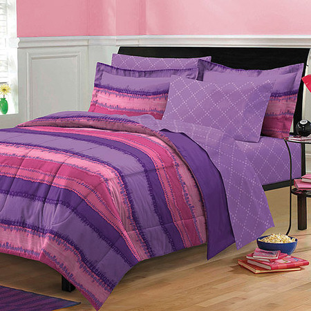 My Room Tie Dye Complete Bed in a Bag Bedding Set, Purple/Plum](Tie Dye Room)