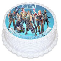 Fortnite Cake Image Personalized Topper Icing Sugar Paper 8 Round Circle