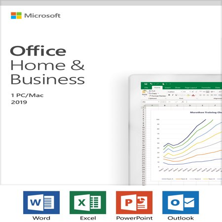 Microsoft Office Home and Business 2019 | 1 device, Windows 10 PC/Mac Key Card (Mint Software Mac)