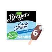 Breyers CarbSmart Frozen Dairy Dessert Vanilla Bars 6 ct