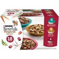 Purina Beneful Prepared Meals Beef Stew, Chicken Stew, and Savory Rice & Lamb Stew Adult Wet Dog Food Variety Pack - (12) 10 oz. Tubs