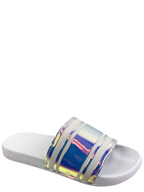 Time and Tru Women's Iridescent Slide Sandal