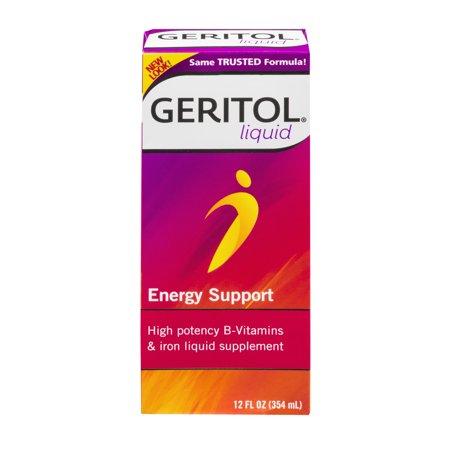 - Geritol Liquid High Potency B-Vitamins & Iron Liquid Supplement Energy Support, 12.0 FL OZ