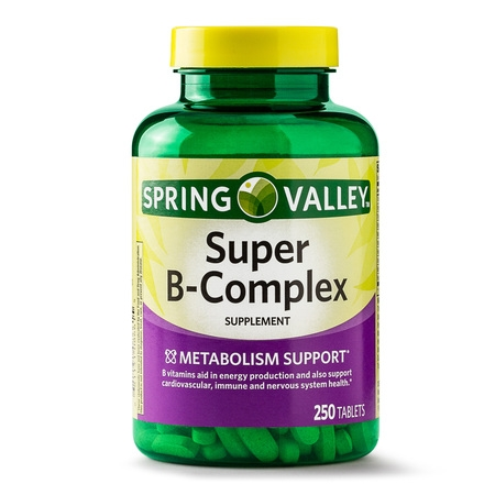 Complex 250 Caps - Spring Valley Super B-Complex Tablets, 250 Ct