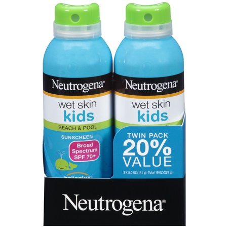 Neutrogena Kids Water-Resistant Sunscreen Spray SPF 70, Oil-Free, 5 oz