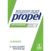 (12 Pack) Propel Powder Packets Kiwi Strawberry With Electrolytes, Vitamins and No Sugar, 10 Ct