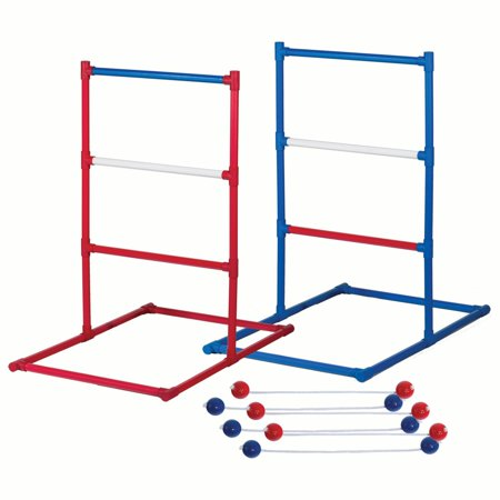 Franklin Sports Ladder Ball Set - Red, White, and Blue Golf Toss Set Includes 2 Ladder Ball Targets with Weighted Base and 6 Bolas - American (Bell Ladder)