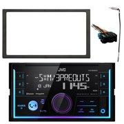 jvc kwx830bts double din car audio usb bluetooth digital media receiver,  enrock double din installation