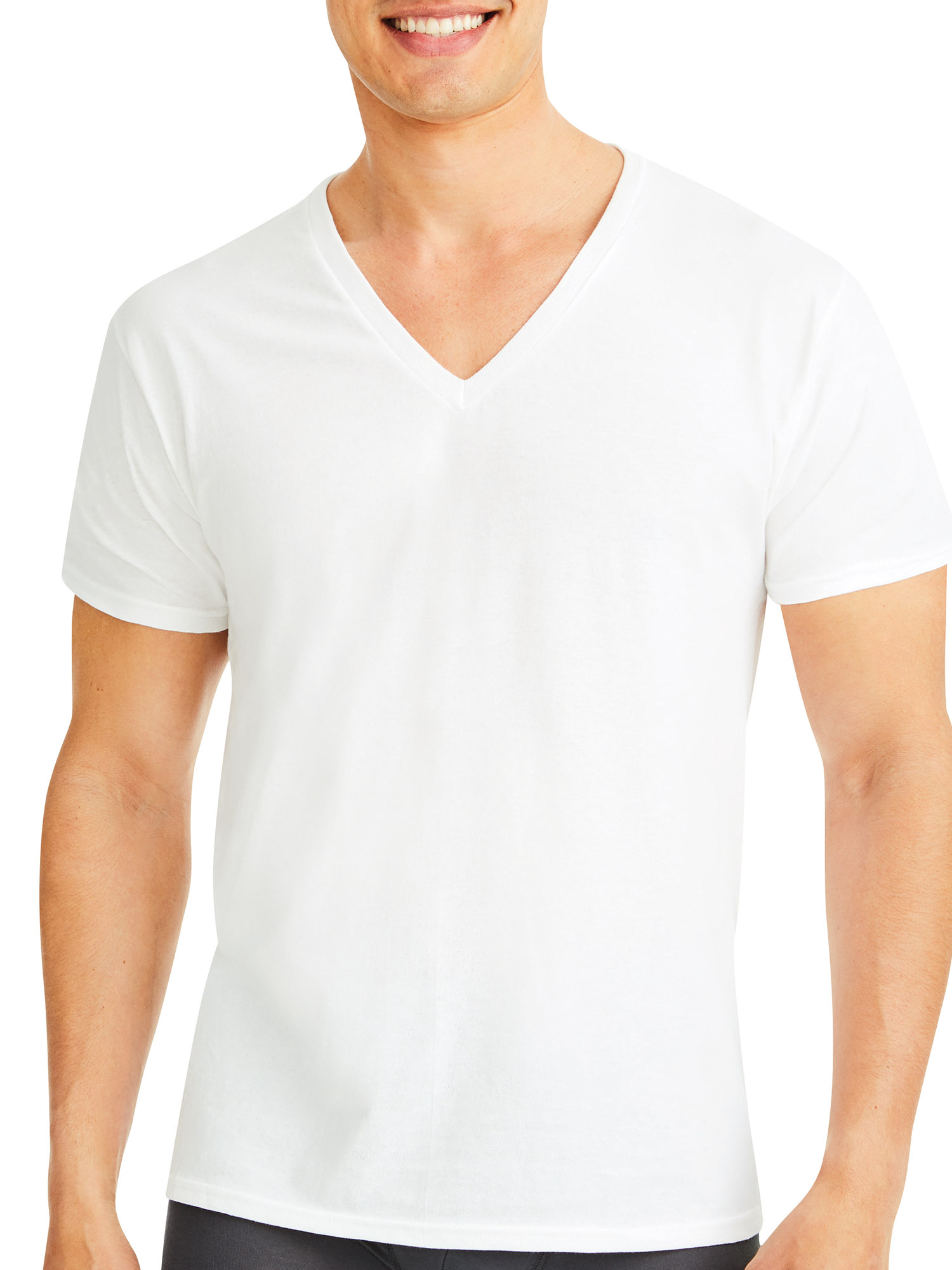 10-Pack Hanes White V Neck ComfortSoft T-Shirts