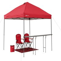 Ozark Trail 10' x 10' Lighted Tailgate Instant Canopy Combo