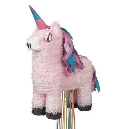 Pink Unicorn Pinata, Pull String, 13.5in x 22in](String Pinata)