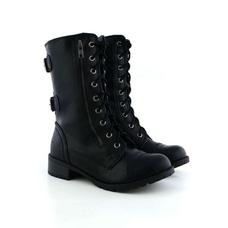 Combat Boots Girl (Soda Dome Mid Calf Height Women's Military / Combat)