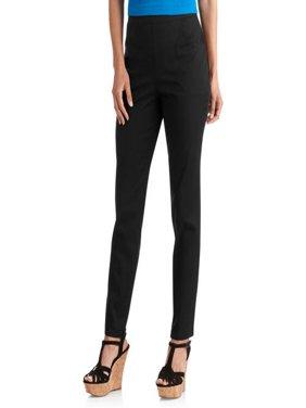 Women's Flat Front Back Elastic Stretch Denim Pants