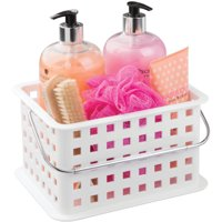 Mainstays Bathroom Shower Caddy Tote Organizer Basket, Available in Multiple Colors