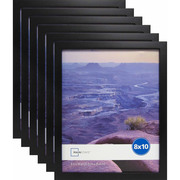 "Mainstays 5"" x 7"" Black Linear Frame, Set of 6"
