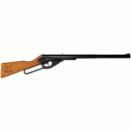 Black Semi Automatic Gun - Daisy Buck BB Youth Lever Action Air long gun, 177 Cal, BB, Wood Stock Blue Barrel