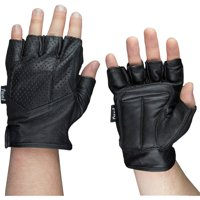 Fuel Helmets Fingerless Motorcycle Gloves, M