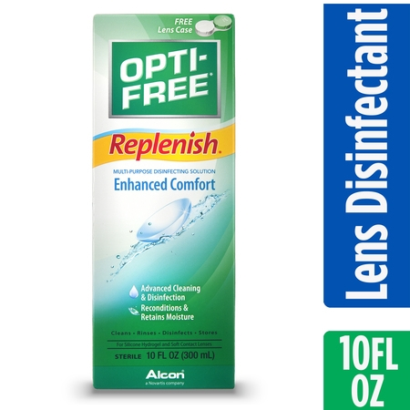 OPTI-FREE Replenish Multipurpose Contact Lens Disinfecting Solution, 10 Fl. Oz.](Contact Lens Halloween Cheap)