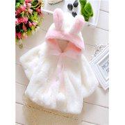 9fc59d4f95fc Baby Infant Girls Fur Winter Warm Coat Cloak Jacket Thick Warm Clothes