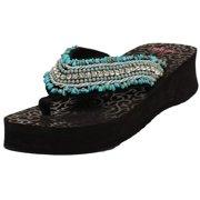 2dc5ce49557c5 Blazin Roxx Western Shoes Womens Meredith Flip Flops Turquoise 4116833