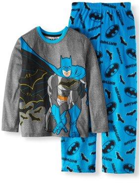 Batman Fleece 2 Piece Pajama Sleep Set (Little Boy & Big Boy)