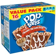 (2 pack) Kellogg's Pop-Tarts Breakfast Toaster Pastries, Frosted Chocolate Chip Cookie Dough Flavored, Value Pack, 28.2 oz 16 Ct