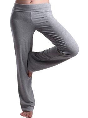 HDE Women's Maternity Yoga Pants Comfortable Lounge Pregnancy Pants Folded Waist
