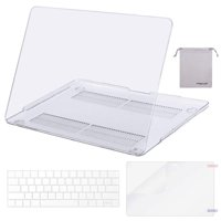 Mosiso MacBook Pro 13 Case 2018 2017 & 2016 Release A1706/A1708/A1989, Plastic Hard Case Shell with Keyboard Cover with Screen Protector with Storage Bag for Newest MacBook Pro 13 Inch, Crystal Clear