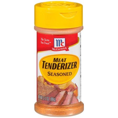(2 Pack) McCormick Seasoned Meat Tenderizer, 3.12 (Meat Seasoning)