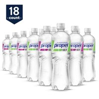 Propel Water Two-Flavor Variety Pack Flavored Water With Electrolytes, Vitamins and No Sugar, 16.9 oz Bottles (Pack of 18)