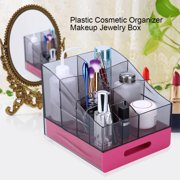 Plastic Cosmetic Organizer Makeup Jewelry Case Box Storage Holder with Single Drawer Storage Box
