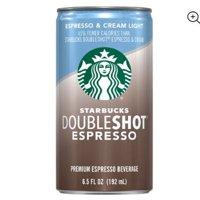 (8 Cans) Starbucks Doubleshot Espresso & Cream Light, 6.5 Fl Oz