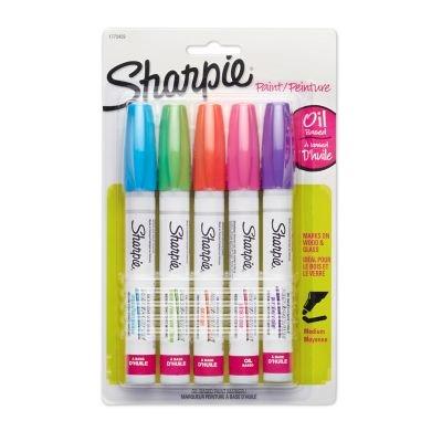 Sharpie Water Based Poster Paint - Sharpie Fashion Paint Marker Set, 5-Color