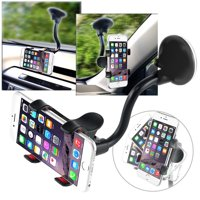 Insten Universal Car Mount Suction Phone Holder Dashboard Windshield Cradle For Cell Phone Smartphone Apple iPhone XS X 8 Plus 7 6 SE 5S iPod Samsung Galaxy S9 S9+ Plus S8 S7 J7 J3 LG Stylo 3 G6 V30