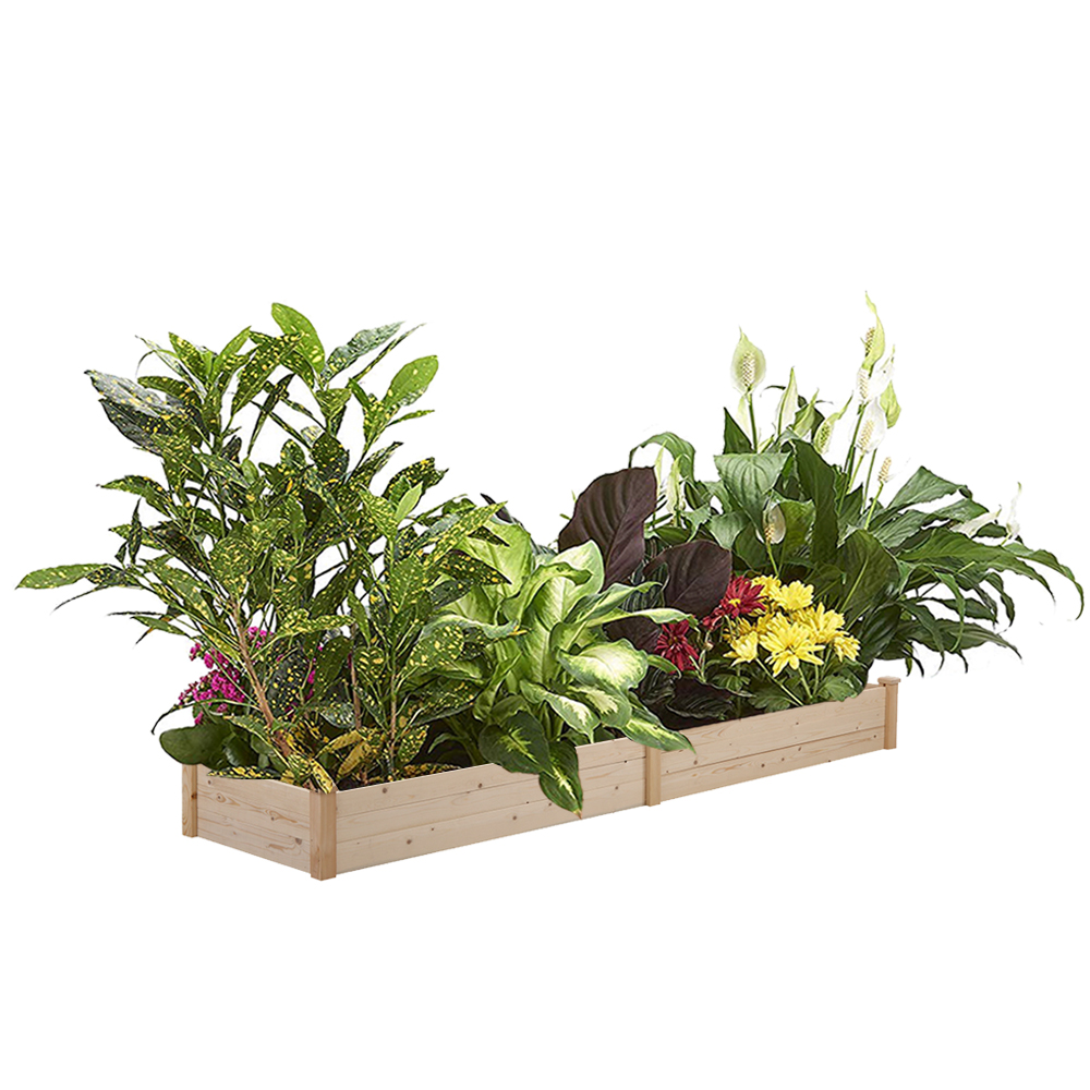 Ainfox 8x2 ft Wood Raised Garden Bed Vegetable Flower Planter Deals